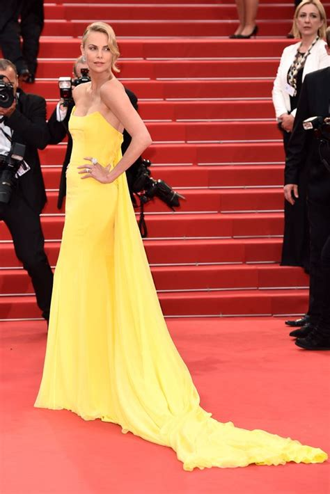 Studded Floor Mirror by Charlize Theron Shines Out At Cannes In Skintight Yellow