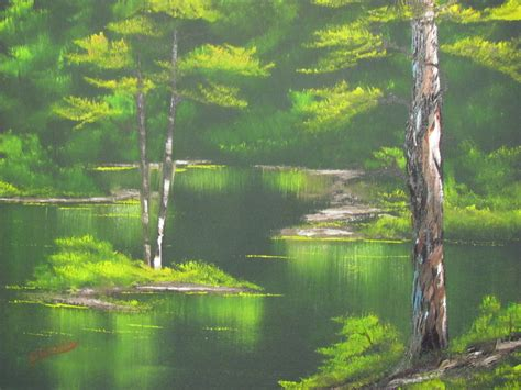 bob ross painting emerald waters paint with 187 emerald water s