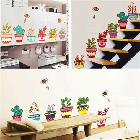 home decor for kids garden flower home decor wall stickers for kids room