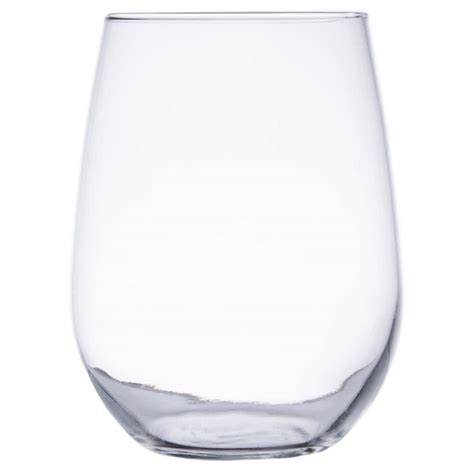 stemless wine glasses libbey 221 17 oz stemless white wine glass 12