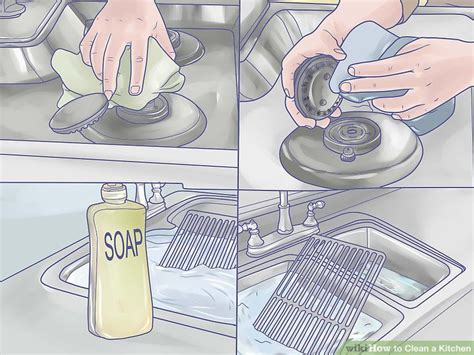 how to clean kitchen how to clean a kitchen with pictures wikihow
