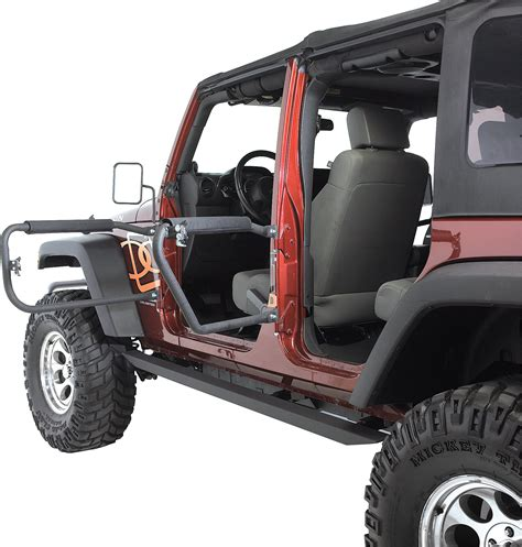 Wrangler Safari Doors by Olympic 4x4 Products Front Rear Safari Doors For 07 17