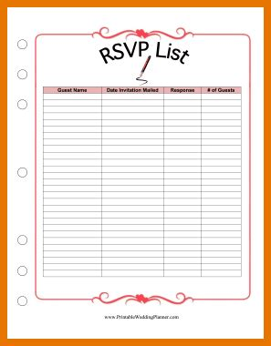 Wedding Guest List Organizer by Sle Pledge Card Template Related Keywords Sle