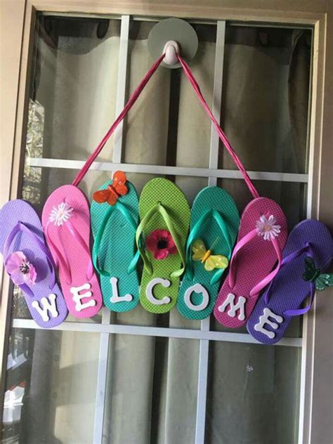 Flip Flop Decorations 37 awesome diy summer projects summer craft ideas