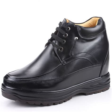 elevator sneakers black shoes for increasing height 13cm 5