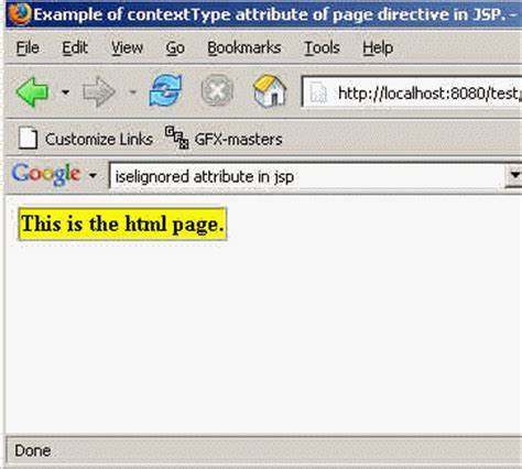 format html title attribute the contenttype attribute of page directive in jsp