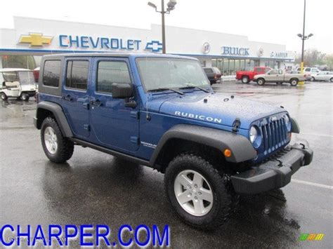 dark blue jeep rubicon 2010 deep water blue pearl jeep wrangler unlimited rubicon