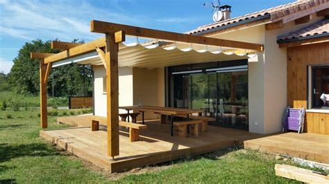 pergola en bois pour terrasse 4651 pergola bois terrasse bois et sallon jardin bois penmie bee