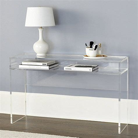 clear acrylic sofa table clear sofa table gl console table set 6006 by chintaly