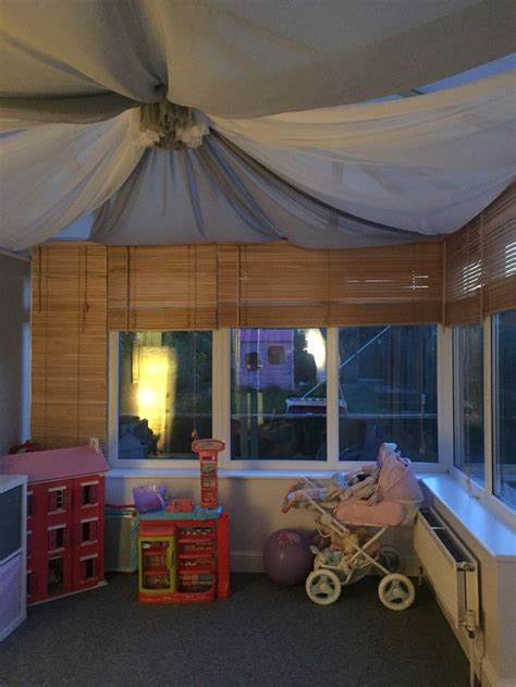 conservatory roof drapes close up of playroom i have created for my daughter in my