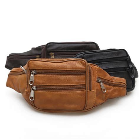 Fashionable Leather Retro Splicing Black - black fashion mens leather waist bags vintage belt casual