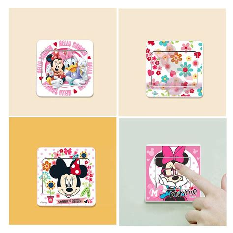 hot mickey mouse minnie vinyl mural wall sticker decals online buy wholesale mickey wallpapers from china mickey