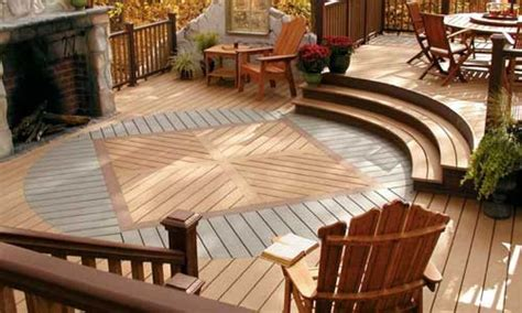Wood Patios Designs Deck Designs Pictures And Ideas