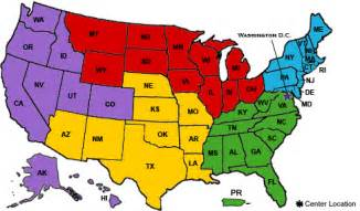colored united states map cdc tb regional and consultation