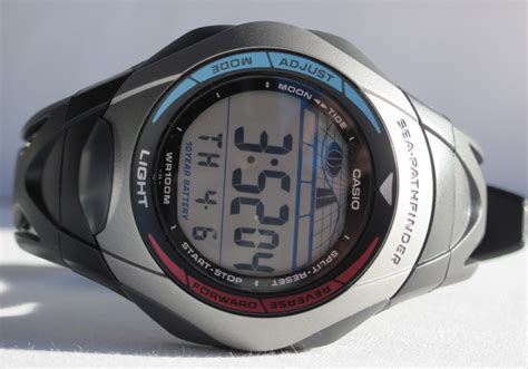 casio sea pathfinder casio sea pathfinder tide graph review