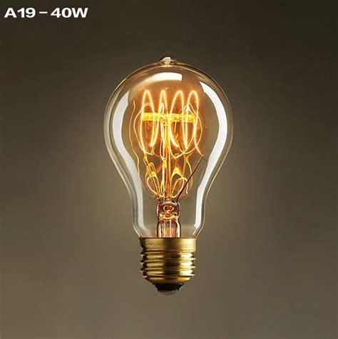Vintage Light Bulb by A19 Incandescent Bulbs Vintage Edison Light Bulbs E27