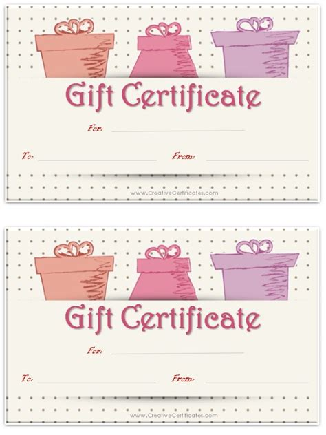 printable baby gift certificates 17 best ideas about gift certificate templates on