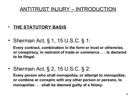 sherman act section 1 antitrust injury before and after brunswick by john m