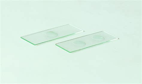 a scientific microscope slides and cover slips