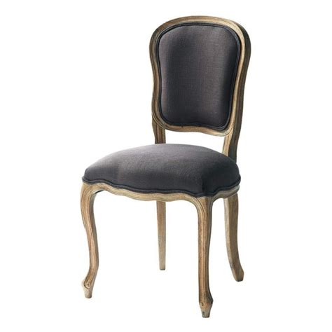 Linen Chairs by Linen Chair In Grey Taupe Versailles Maisons Du Monde