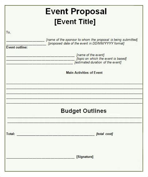 event propsal template paper work work work pinterest