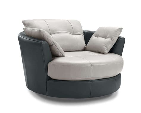 Cecile Leather Round Armchair With 3 Adjustable Headrests Creative Furniture Store