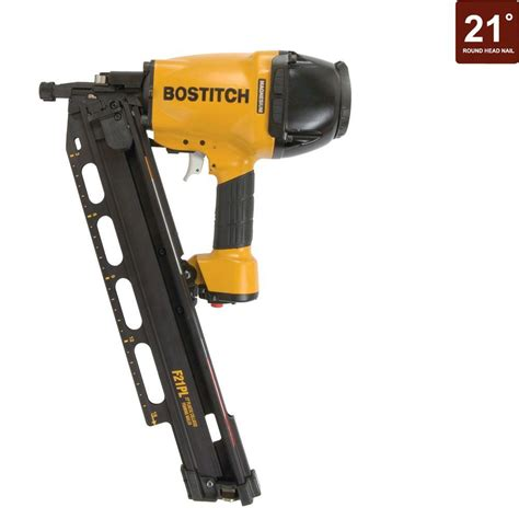 Home Depot Nailer by Bostitch 21 Degree Industrial Framing Nailer