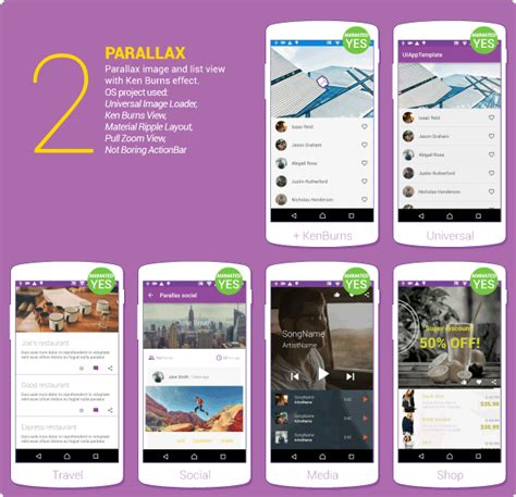 material design layout for android material design ui android template app by creativeform