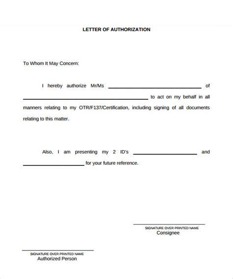 authorization letter templates ms