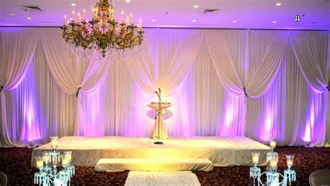 stage draping back drape ideas for wedding reception day stages