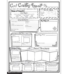 country report template 2nd grade product instant personal poster sets cool country report