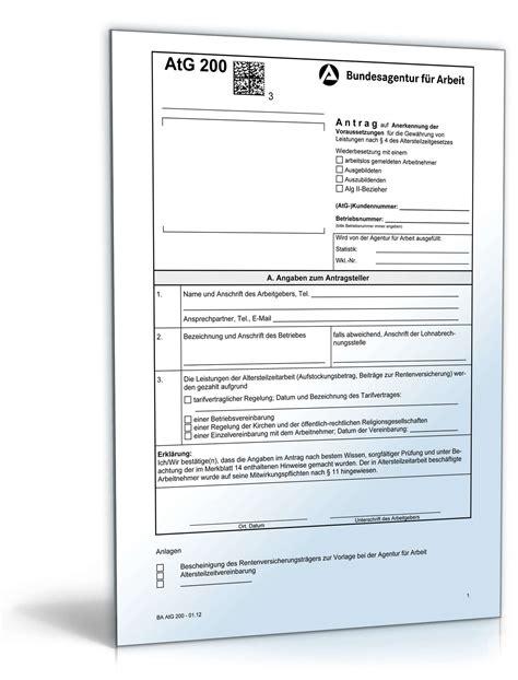 Antrag Auf Briefwahl Vordruck Anerkennungsantrag Altersteilzeit Formular Zum