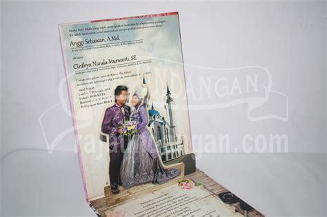desain undangan pernikahan pop up undangan pernikahan hardcover pop up pakai amplop anggi
