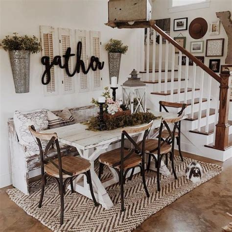 amazing modern farmhouse dining room decor ideas