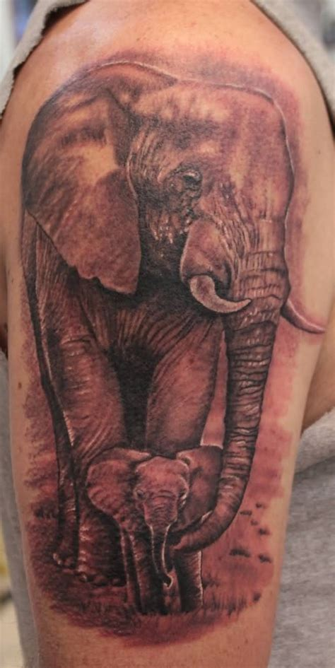 mom and baby elephant tattoo designs 57 stylish elephant shoulder designs