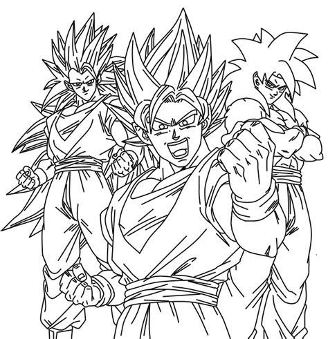 imagenes para pintar a goku goku ssj3 para pintar imagui