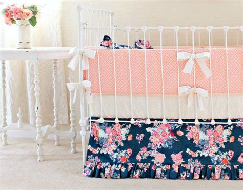 coral nursery bedding sets coral nursery bedding floral antlers crib bedding coral