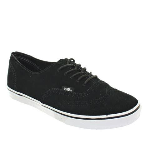 Vans Authentic Oxford womens vans authentic lo pro suede oxford black flat trainers size 3 8