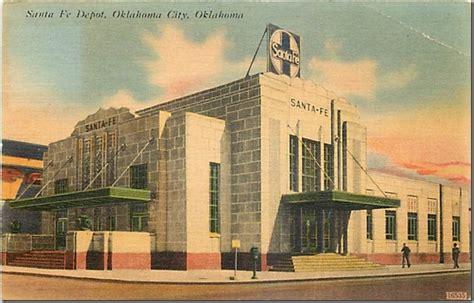 santa fe depot oklahoma historic postcards oklahoma