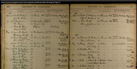 Omaha Marriage Records Omaha Marriage