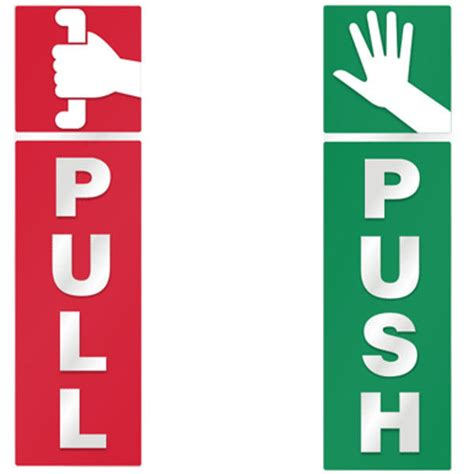 Push And Pull Signs For Glass Doors Push And Pull Door Window 2 Option Vinyl Decal Information Warning Note Sticker Ebay