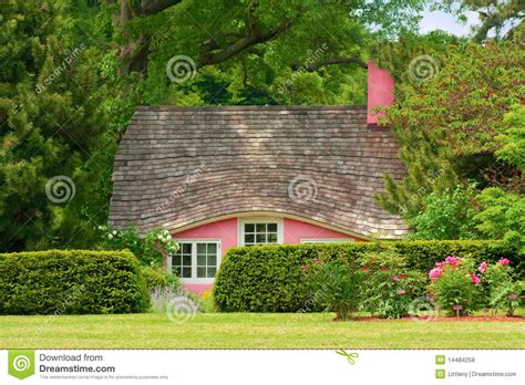 Pink Cottage by Pink Cottage Royalty Free Stock Photos Image