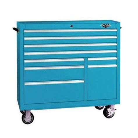 viper tool storage 41 in 9 drawer cabinet in teal