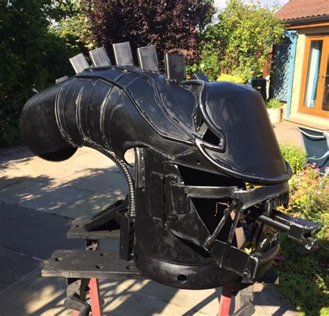 chiminea keeps going out game over man alien and predator head fire pits geekologie