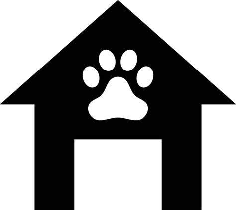 dog house silhouette silhouette paw dog house clipart cliparts and others art inspiration