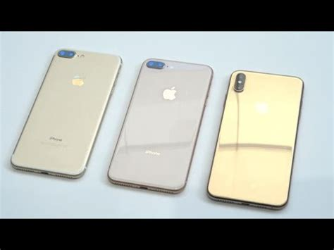 iphone xs max dorado vs iphone 8 plus y iphone 7 plus cu 225 l luce mejor