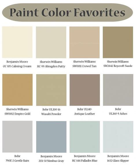 calm neutral color palette paint color palette for office craft room from the creativity