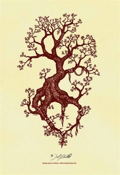 heart tree tattoo possible tree with the roots forming a
