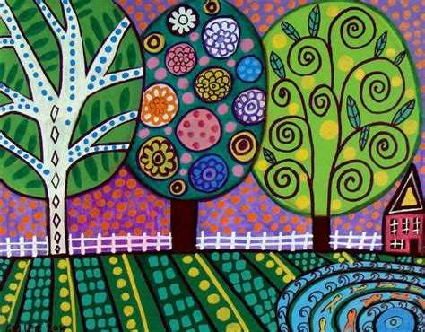 folk art trees ilustraciones pinterest folk art be
