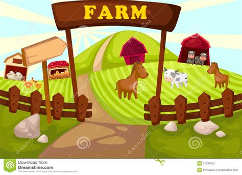 Home Design Sketch Free by Farm Stock Vector Image Of Color Graphic Green Farm